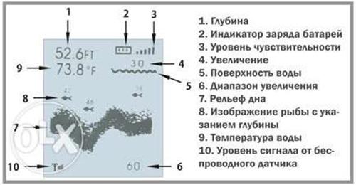 индикаторы эхолота