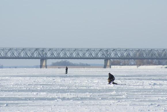 рыбалка на Днепре зимой фото