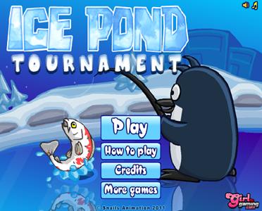 Ice pond рыбалка игра