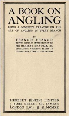 A Book of Angling (Книга о рыбалке) (1920) скачать